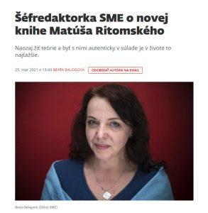 Beata Balogová o knihe Matúša Ritomského